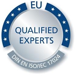 Gütesiegel Qualified Experts DIN EN ISO/IEC 17024: Geschäftsführung Frank Baumann - immoorga Neuss